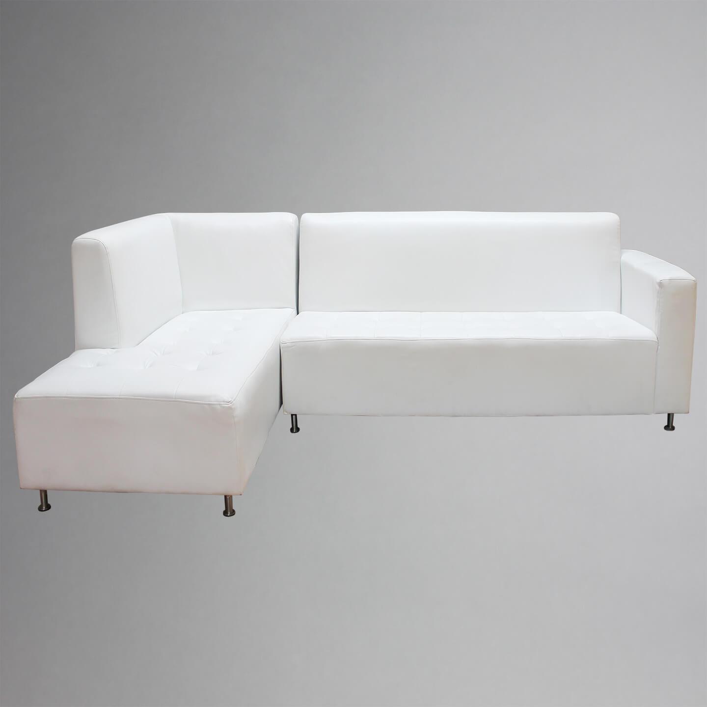 Blanka L Shape Sofa Pinch Me Rentals ~ White Leather L Shaped Sofa